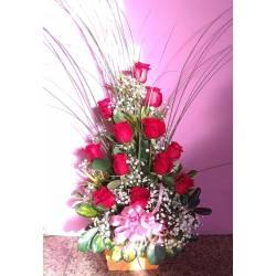Docena Rosas y Bombones Ferrero Rocher